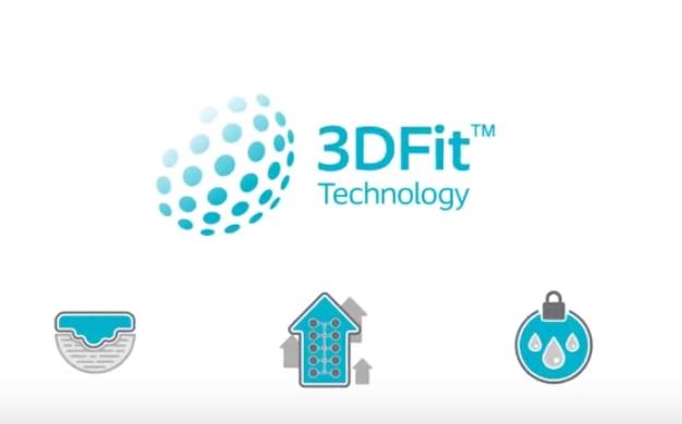 Zobacz w jaki sposób<br> Biatain Silicone<br> z technologią 3DFit wypełnia martwą<br>przestrzeń<br/>i ogranicza ilość<br/>wysięku.